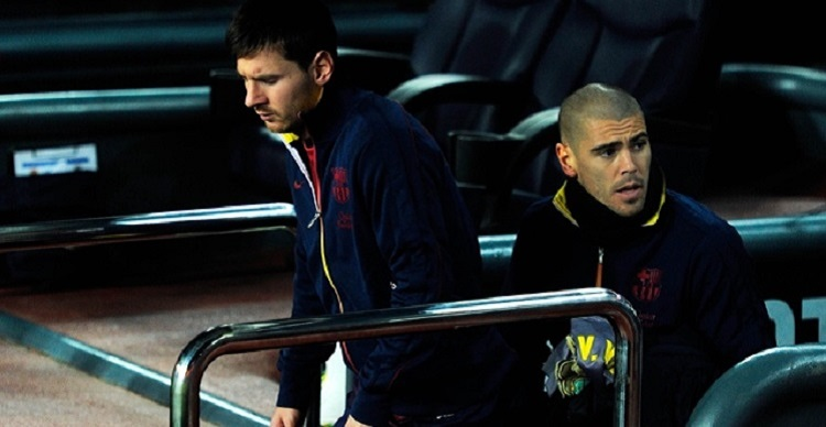 messi and valdes